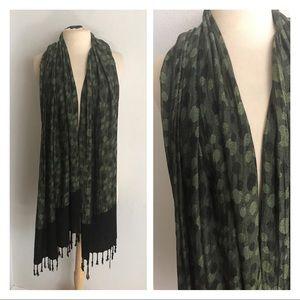 Green/ black HUGE scarf